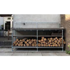 Haardhout opslag Karlstad | Staal 33.7 mm | Vloer | DIY