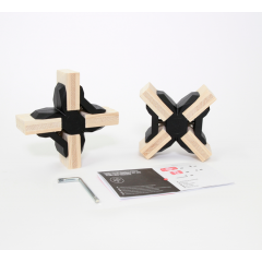 Playwood - 2 Cross Connectors - Zwart