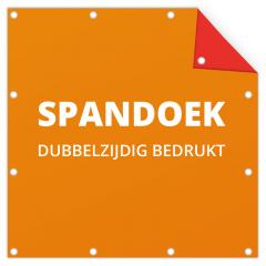 Spandoek Dubbelzijdig (zonder frame)