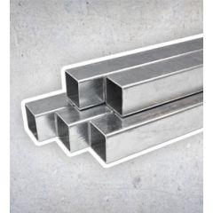Vierkant Staal Zwart - 25x25 mm