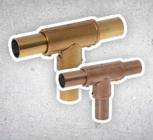 RVS Exclusive koppelingen in goud / koper / zwart