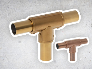 RVS buiskoppelingen in Goud/Messing, Zwart, Zilver en Koper