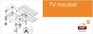Werktekening Steigerbuis TV Meubel